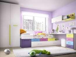 Dormitorios de estilo moderno por DORMITORIO JOVEN