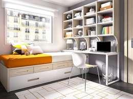 Dormitorios de estilo  por DORMITORIO JOVEN