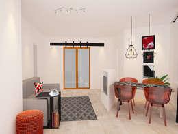Alternative living/dining room with an extra bedroom:  Ramen door Levenssfeer