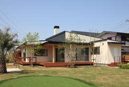 Projekty, nowoczesne Domy zaprojektowane przez TAMAI ATELIER
