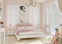 Projekty,  Sypialnia zaprojektowane przez Samarina projects