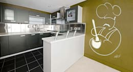 minimalistic Kitchen by Murales Divinos