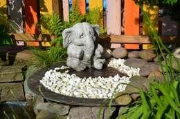 Steinfiguren Lessmann: rustik tarz tarz Bahçe