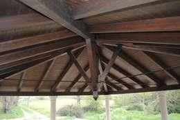 Jardin de style de style Rustique par CUTECMA Estructuras de madera
