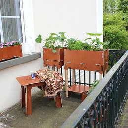 陽台、門廊與露臺 by Werkhaus Design + Produktion GmbH