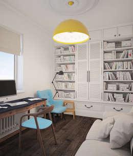 Скандинавский дом: Рабочие кабинеты в . Автор – room4life
