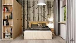 nowoczesne mieszkanie : styl , w kategorii Sypialnia zaprojektowany przez Artenova Design