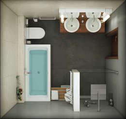 Васечкин  Design: endüstriyel tarz tarz Banyo