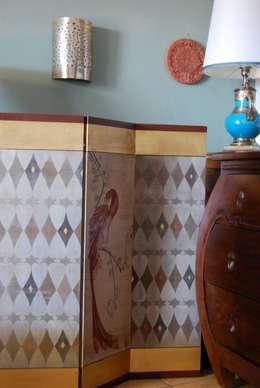 Salones de estilo  por Bitelli Marta - decorazioni pittoriche