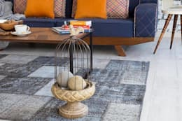 Household by patchwork carpets