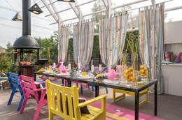 Терраса-Взлетная полоса: Балкон, веранда и терраса в . Автор – Bureau GN