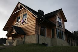 Chalets & maisons en bois de style  par LK & Projekt Sp. z o.o.