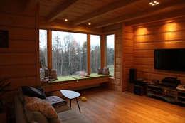rustic Living room by LK & Projekt Sp. z o.o.