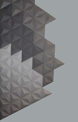 Płytka 3D Beton architektoniczny Piramids: styl , w kategorii Ściany i podłogi zaprojektowany przez Bettoni