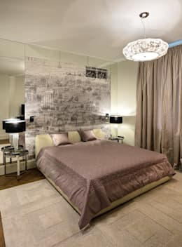 Квартира на Ломоносовском: Спальни в . Автор – Надежда Каппер