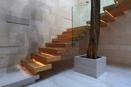 Vestibulo Principal: Pasillos y recibidores de estilo  por Código Z Arquitectos