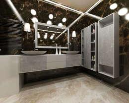 """3-х комнатная квартира в ЖК """"Балтийская Жемчужина"""": Ванные комнаты в . Автор – DEMARKA"""