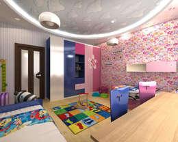 """3-х комнатная квартира в ЖК """"Балтийская Жемчужина"""": Детские комнаты в . Автор – DEMARKA"""
