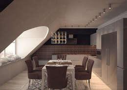 Salle à manger de style de style eclectique par DEMARKA