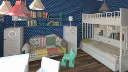 Дизайн интерьера квартиры в стиле «арт-деко»: Детские комнаты в . Автор – DEMARKA