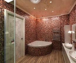 Дизайн интерьера квартиры в стиле «арт-деко»: Ванные комнаты в . Автор – DEMARKA