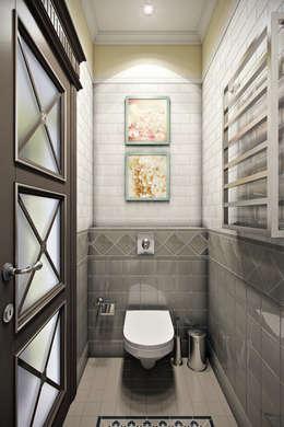 легкая классика: Ванные комнаты в . Автор – Арт-мастерская 'РЕПЛИКА'