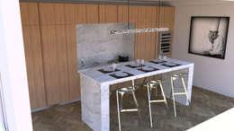 Cocinas de estilo moderno por Xavier Lemoine Architecture d'Intérieur