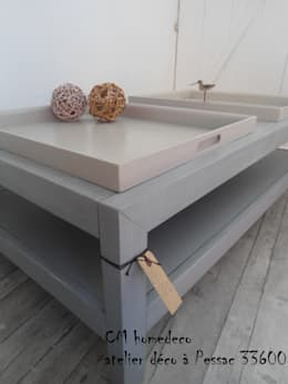 """table basse relookée déco bord de mer """"ILE DE Ré"""": Salon de style de style eclectique par cm homedeco"""