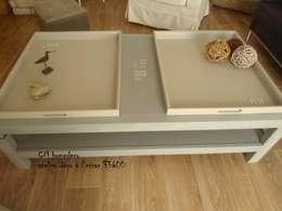 """table basse en bois déco bord de mer """"ILE DE Ré"""": Salon de style de style eclectique par cm homedeco"""