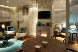 Salon: styl , w kategorii Salon zaprojektowany przez SAFRANOW