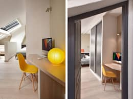 modern Study/office by Marion Lanoë Architecte d'Intérieur