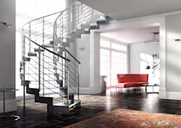 modern Corridor, hallway & stairs by NORD SCALE