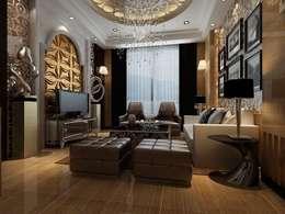Diva Yapı – 3D GOLD PANEL: klasik tarz tarz Oturma Odası