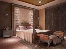 Diva Yapı – 3D GOLD PANEL: iskandinav tarz tarz Yatak Odası