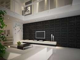 Diva Yapı – 3D GOLD PANEL: modern tarz Multimedya Odası