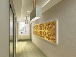 Diva Yapı – 3D GOLD PANEL:  tarz Koridor ve Hol