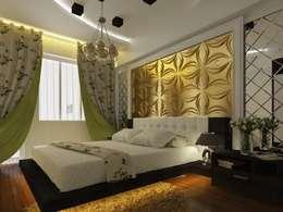 Diva Yapı – 3D GOLD PANEL: endüstriyel tarz tarz Yatak Odası