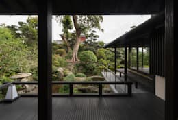 Jardines de estilo  por 環アソシエイツ・高岸設計室