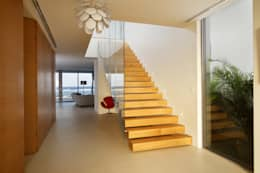 Pasillo, hall y escaleras de estilo  por Nicolas Tye Architects