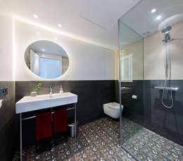 Baños de estilo escandinavo por RM arquitectura