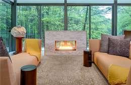 Salas de estilo moderno por Specht Architects
