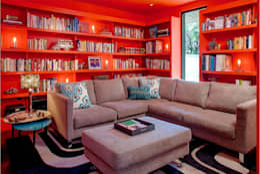 Salas multimedia de estilo moderno por Specht Architects