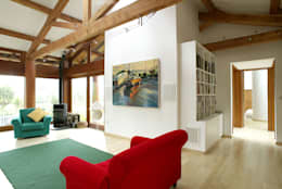 modern Living room by DUA Architecture LLP