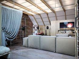 Мансарда в таунхаусе, г. Екатеринбург : Тренажерные комнаты в . Автор – Дизайн-студия 'Эскиз'