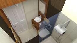 ห้องน้ำ by DETAY MİMARLIK MÜHENDİSLİK İÇ MİMARLIK İNŞAAT TAAH. SAN. ve TİC. LTD. ŞTİ.