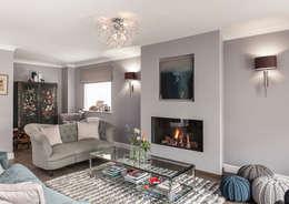 غرفة المعيشة تنفيذ Smartstyle Interiors