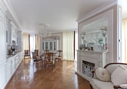 Дизайн 4-комнатной квартиры в ЖК «Дом на Давыдковской»: Кухни в . Автор – Дизайн студия Ольги Кондратовой
