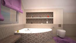 Коттедж в п. Грибки: Ванные комнаты в . Автор – дизайн-бюро ARTTUNDRA