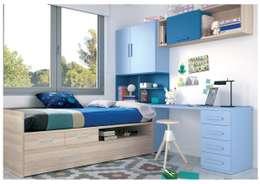 modern Nursery/kid's room تنفيذ Muebles Arepesa
