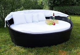 Meble rattanowe.: styl , w kategorii Ogród zaprojektowany przez Granos Group Sp. z o.o.